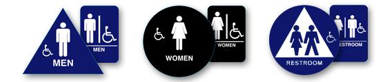 Bathroom Signs California bathroom sign | ada bathroom signs | bathroom door sign