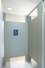 Bathroom Handicap Stalls handicap sign